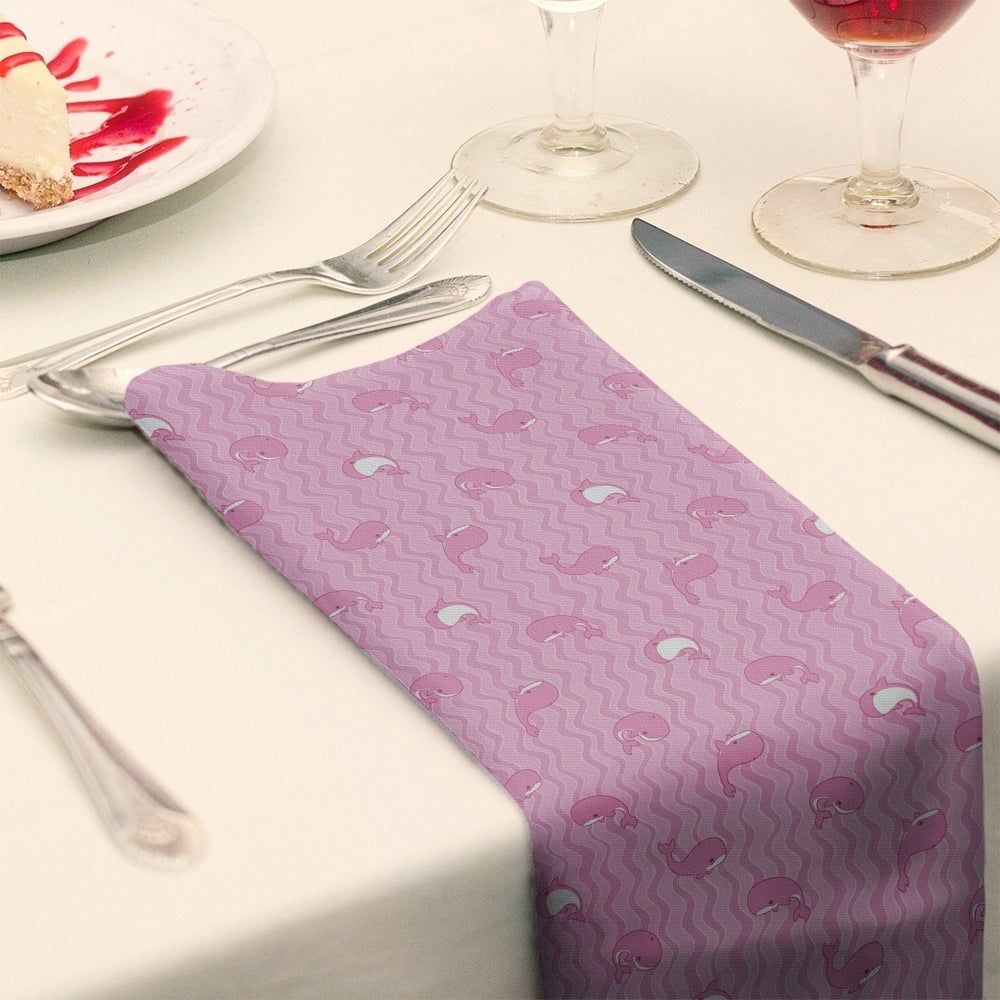 Shop Whales Pattern Napkin - Overstock - 28527874