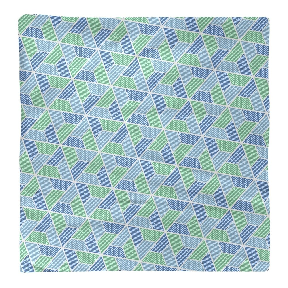 Shop Two Color Trapezoids Napkin - Overstock - 28527875