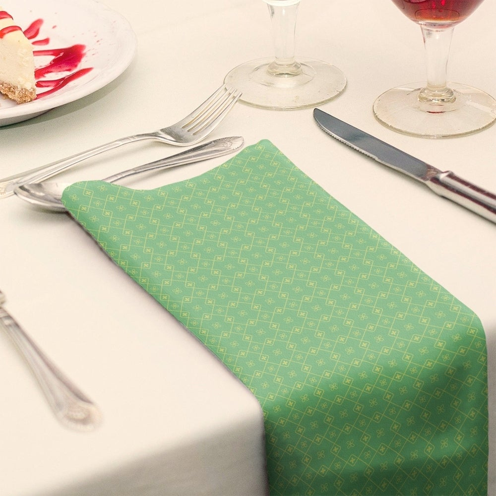 Shop Two Color Doily Pattern Napkin - Overstock - 28527881
