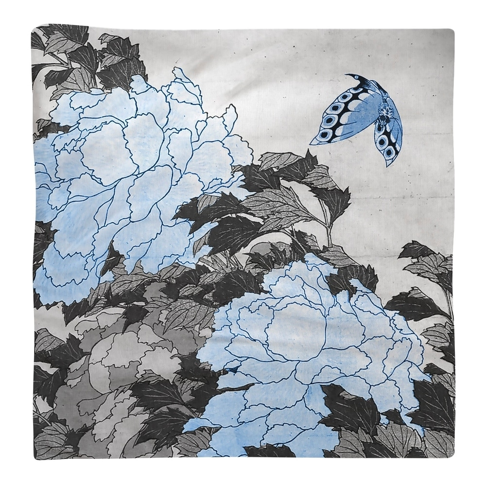 Shop Peonies and Butterfly Napkin - Overstock - 28527905