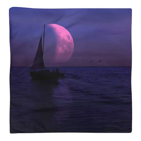 Moon and Sailboat Napkin