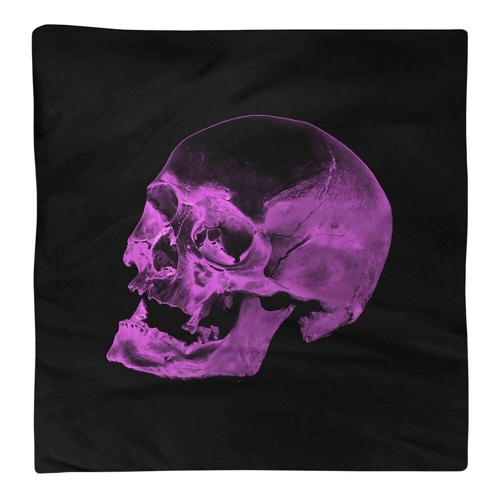 Shop Skull on Black Background Napkin - Overstock - 28527920