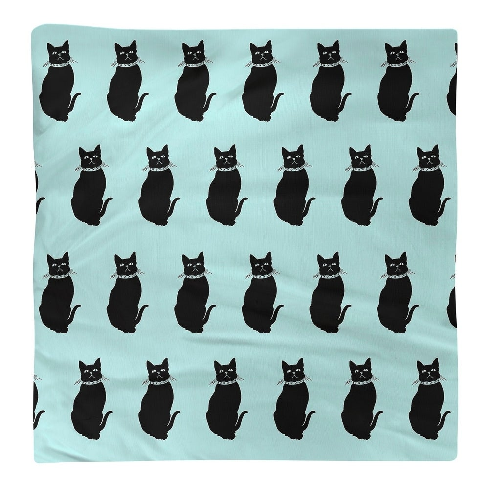 Shop Black Cat Pattern Napkin - Overstock - 28527996