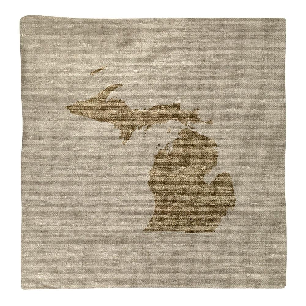 Shop Michigan Silhouette Napkin - Overstock - 28528068