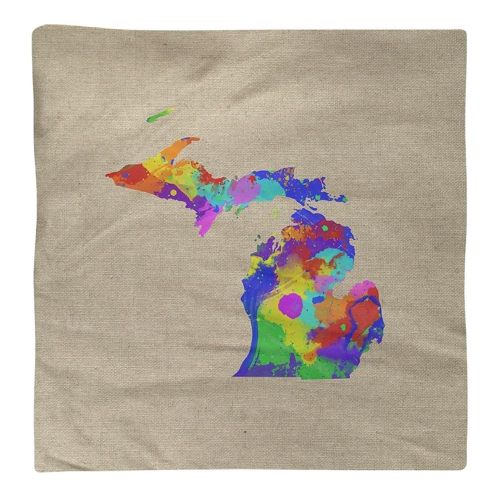 Shop Michigan Watercolor Napkin - Overstock - 28528080