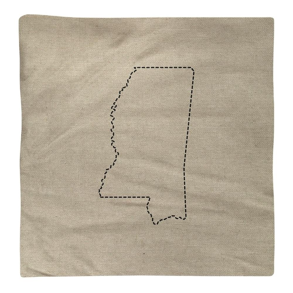 Shop Mississippi Silhouette Napkin - Overstock - 28528085