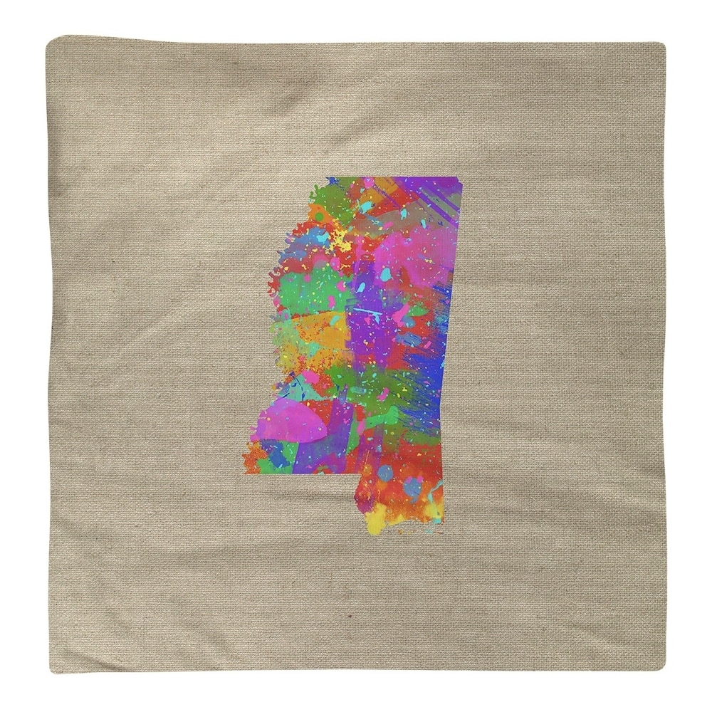 Shop Mississippi Watercolor Napkin - Overstock - 28528087