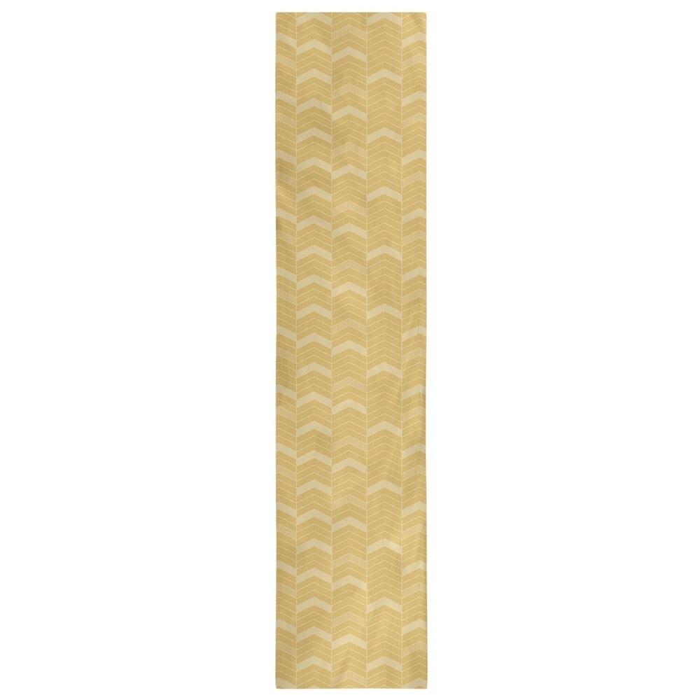 Shop Monochromatic Lined Chevrons Table Runner - Overstock - 28528100