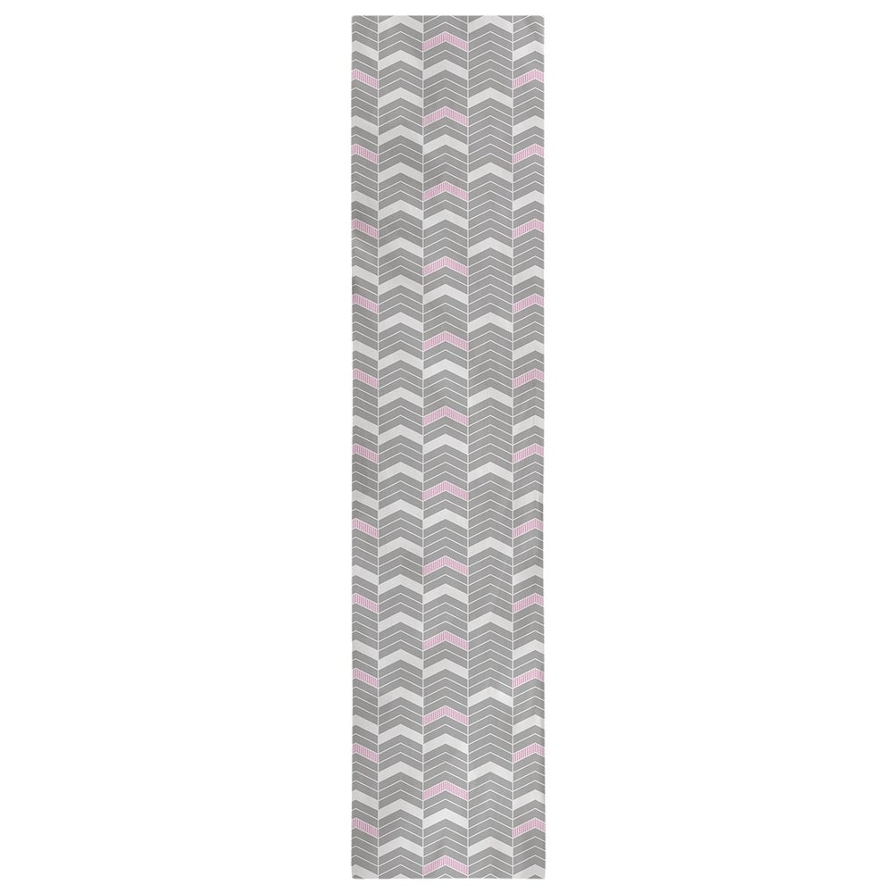 Shop Color Accent Lined Chevrons Table Runner - Overstock - 28528101