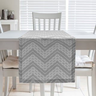 Classic Hand Drawn Chevron Pattern Table Runner