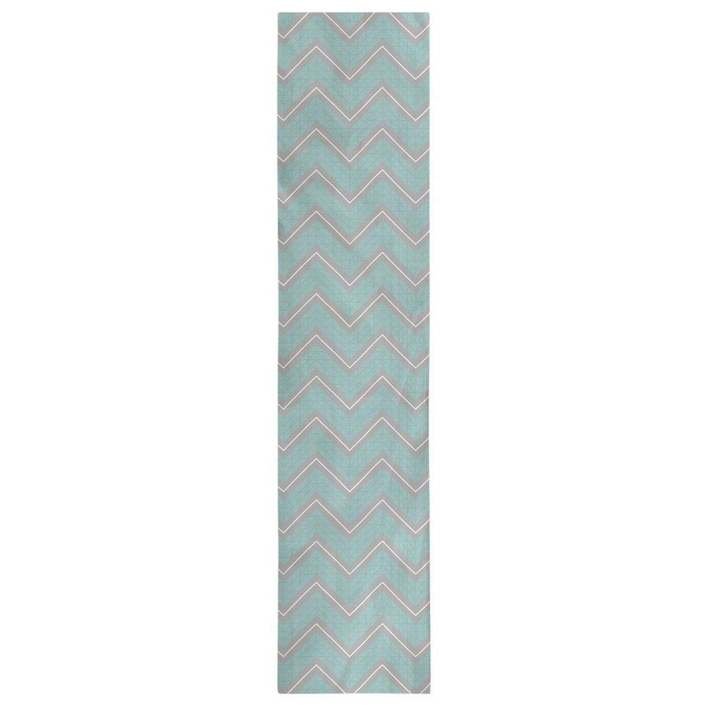Shop Gray Color Accent Hand Drawn Chevrons Table Runner - Overstock - 28528118