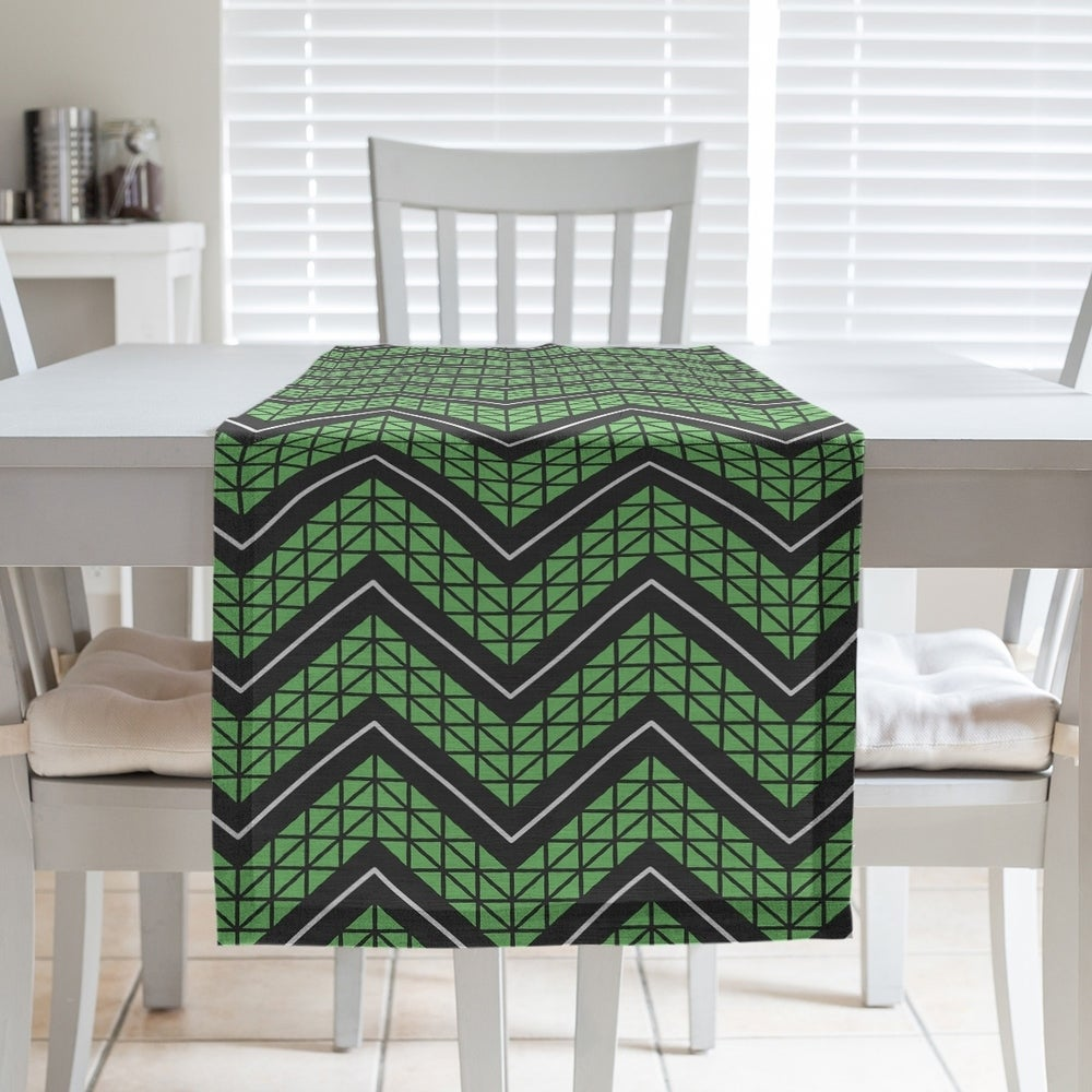 Shop Color Accent Hand Drawn Chevron Pattern Table Runner - Overstock - 28528122