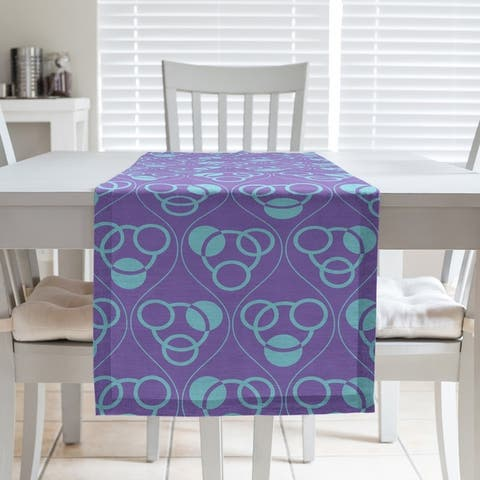 Full Color Circles & Waves Table Runner