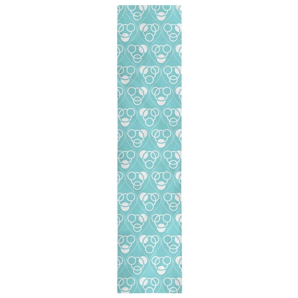 Shop Classic Circles & Waves Table Runner - Overstock - 28528130