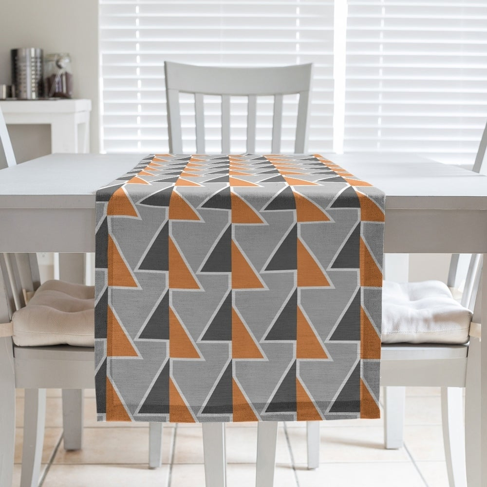 Shop Color Accent Shifted Arrows Table Runner - Overstock - 28528135