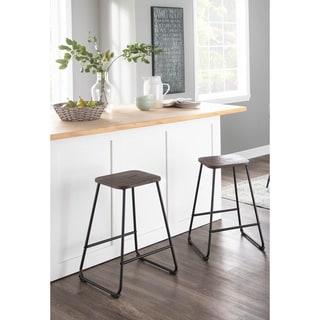 Link to Carbon Loft Bahorel Industrial Metal & Wood Counter Stool (Set of 2) - N/A Similar Items in Dining Room & Bar Furniture