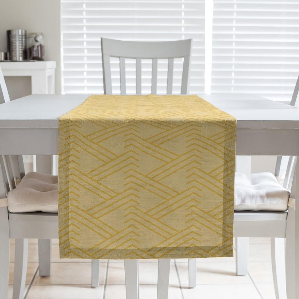 Shop Monochrome Zig Zag Pattern Table Runner - Overstock - 28528144