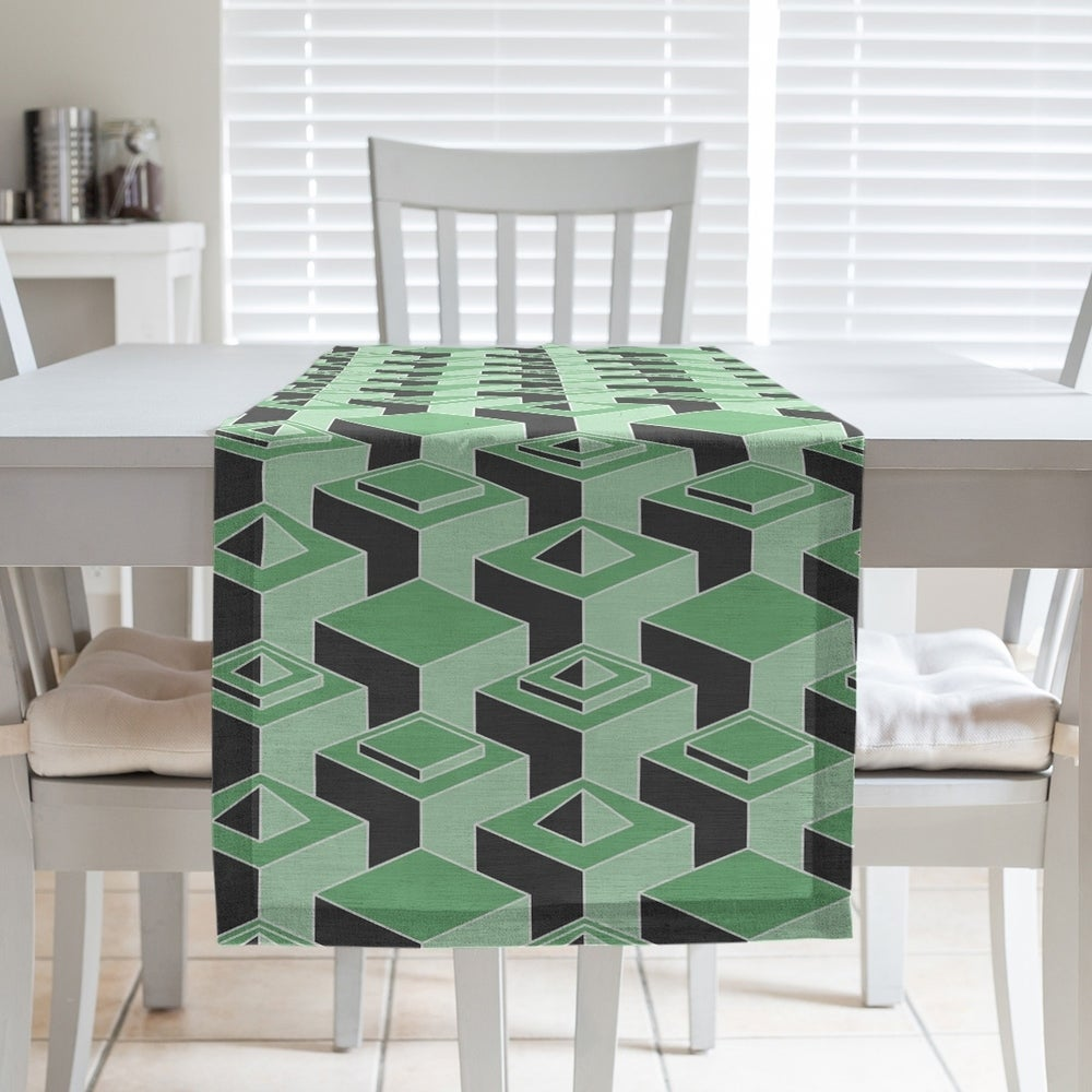 Shop Black & Color Skyscrapers Pattern Table Runner - Overstock - 28528158