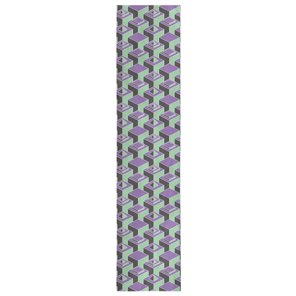 Shop Two Color Dark Skyscrapers Pattern Table Runner - Overstock - 28528166