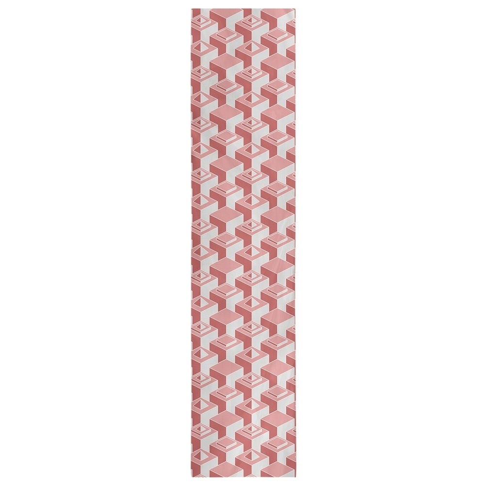 Shop Monochrome Skyscrapers Pattern Table Runner - Overstock - 28528169