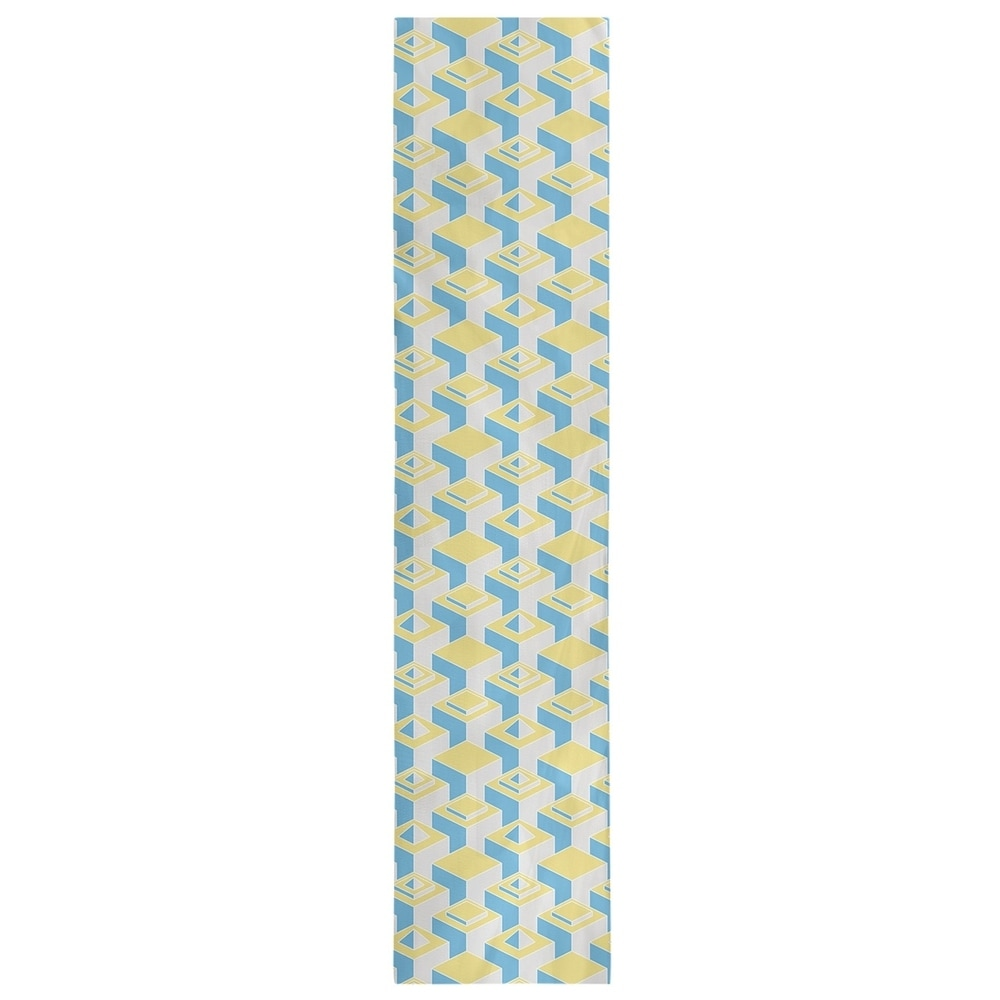 Shop Color Contrast Skyscrapers Pattern Table Runner - Overstock - 28528173