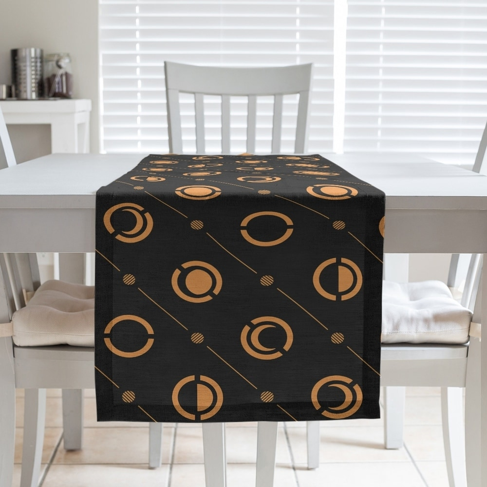 Shop Black & Color Moon Phases Table Runner - Overstock - 28528174