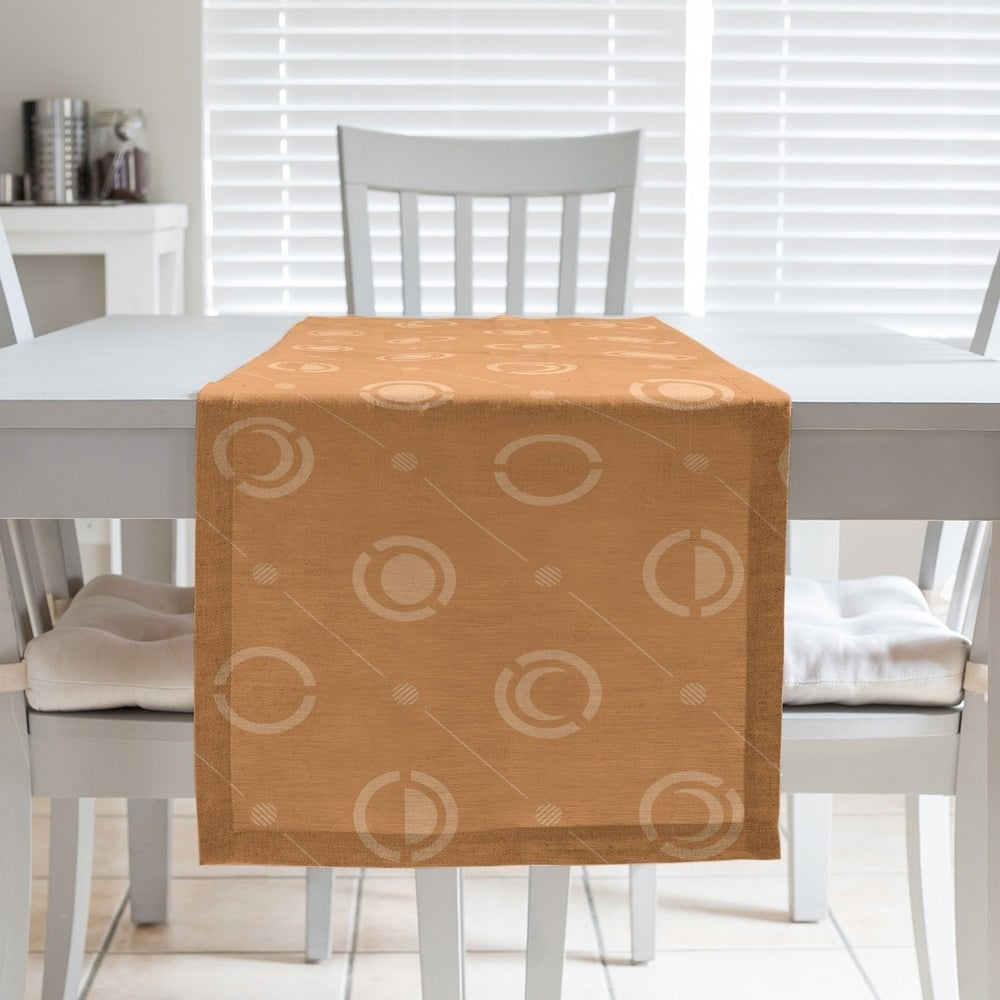Shop Monochrome Moon Phases Pattern Table Runner - Overstock - 28528182