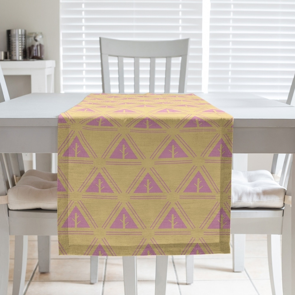 Shop Two Color Minimalist Trees Table Runner - Overstock - 28528194