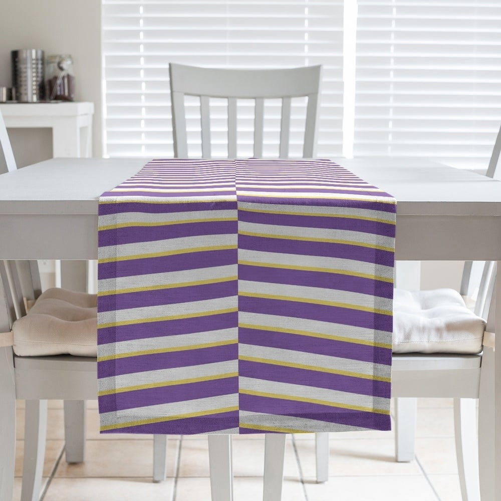 Shop Two Color Fractured Stripes Table Runner - Overstock - 28528202