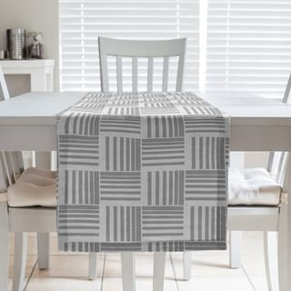 Classic Basketweave Stripes Table Runner