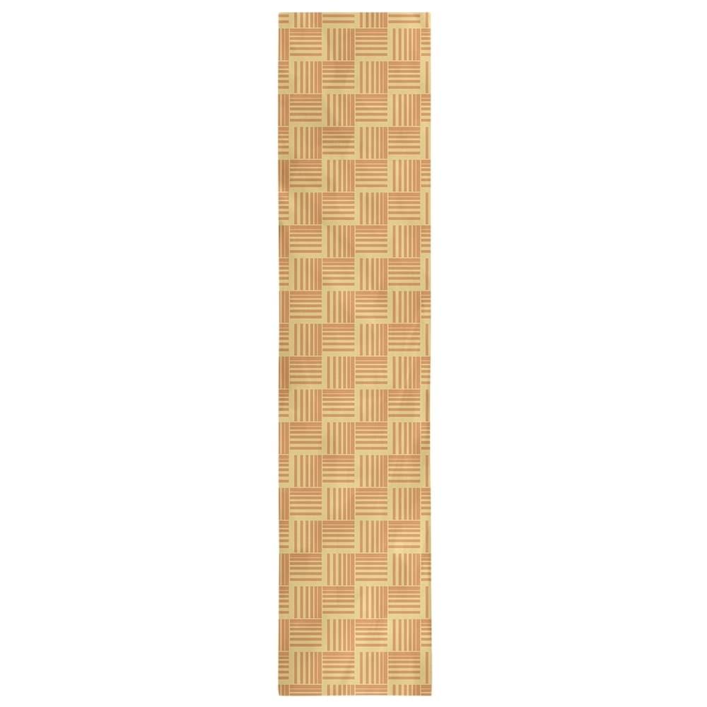 Shop Two Color Basketweave Stripes Table Runner - Overstock - 28528211