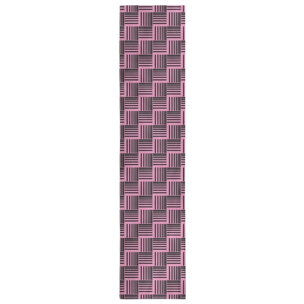Shop Black & Color Basketweave Stripes Table Runner - Overstock - 28528219