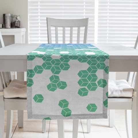 Tumbling Cube Pattern Table Runner