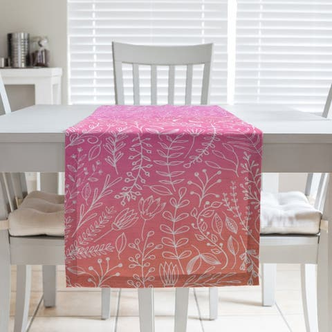 Ombre Ditsy Floral Pattern Table Runner