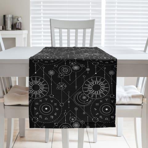 Astrology Pattern Table Runner
