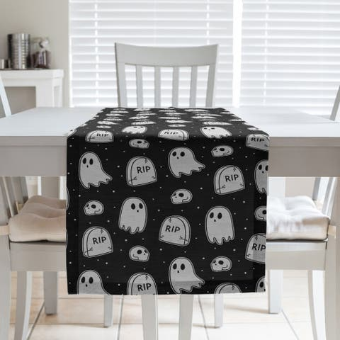 Classic Ghosts Pattern Table Runner