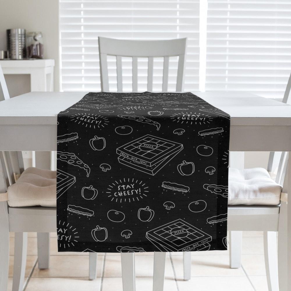 C/&F Home Denim Rag Table Runner Table Runner Multi