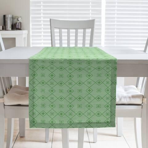 Monochrome Doily Pattern Table Runner