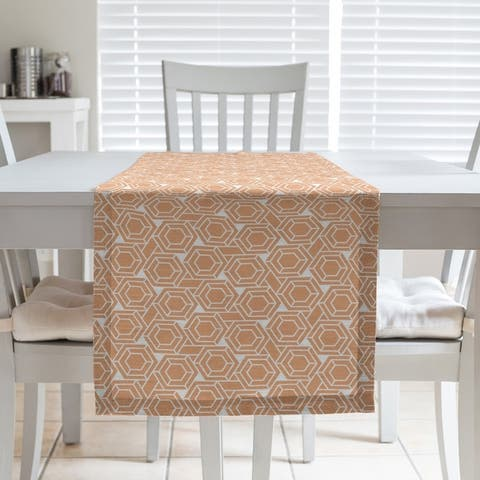 Classic Hexagonal Lattice Table Runner