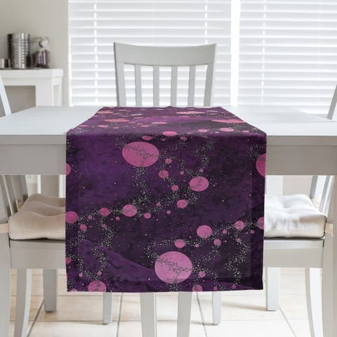 Multicolor Planets & Stars Table Runner