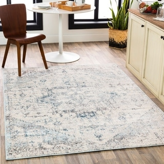 Porch & Den Esther Faded Traditional Medallion Area Rug