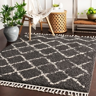 "Stevie Bohemian Patterned Shag Area Rug - 9'2"" x 12'"