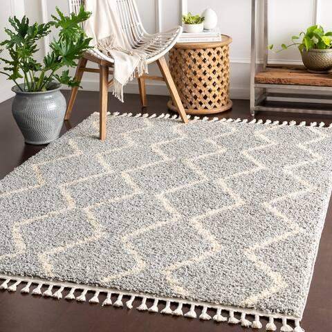 Jada Moroccan Stripe Shag Area Rug