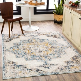 Link to Irma Distressed Traditional Medallion Area Rug Similar Items in Transitional Rugs