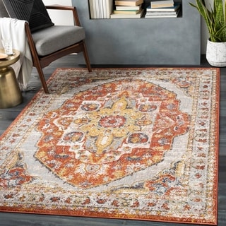 Link to Ira Traditional Medallion Area Rug Similar Items in Rugs