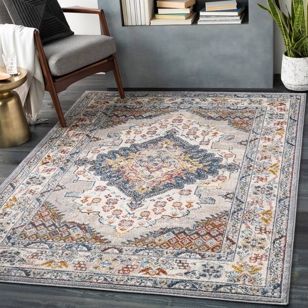 Elmas Traditional Persian Medallion Area Rug