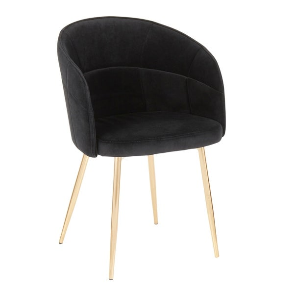 Silver Orchid Ralston Contemporary-Glam Velvet Upholstered Chair - N/A. Opens flyout.