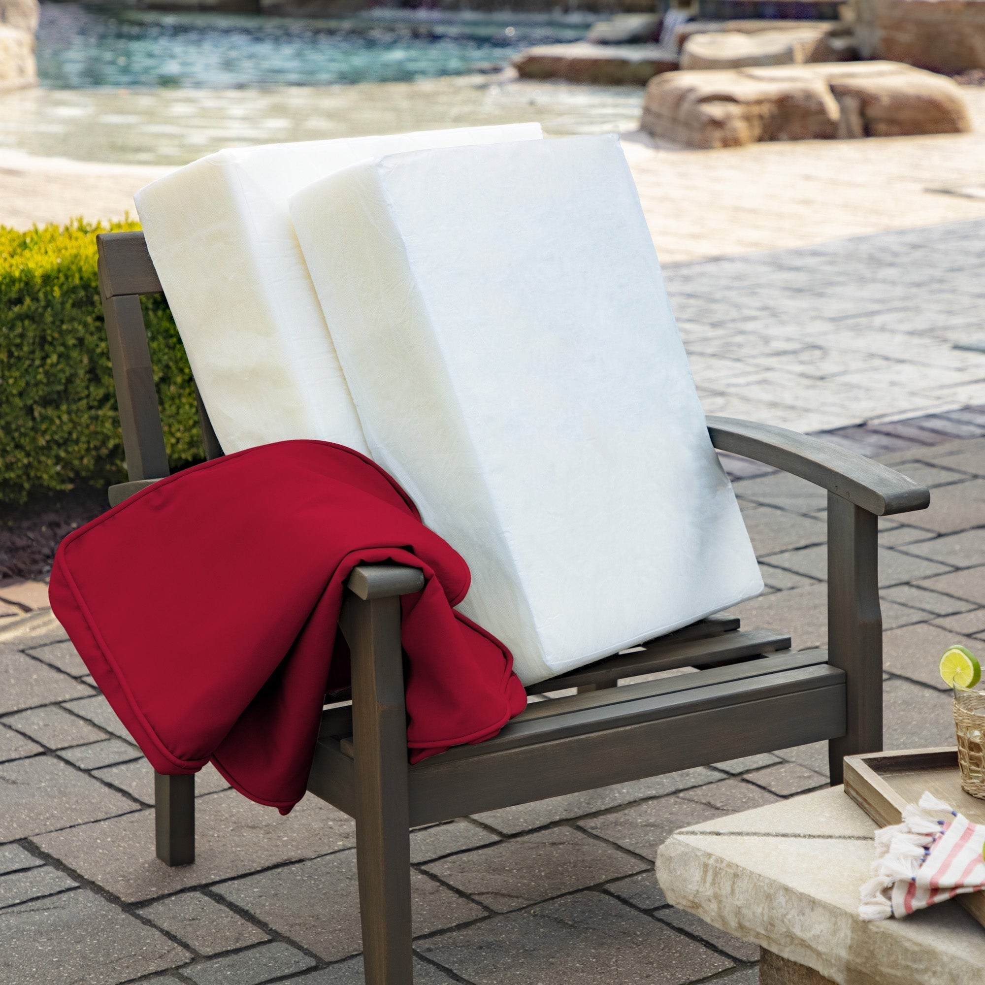 Arden Selections Profoam Acrylic Deep Seat Cushion Set 18 L X 24 W X 6 H In Overstock 28528794