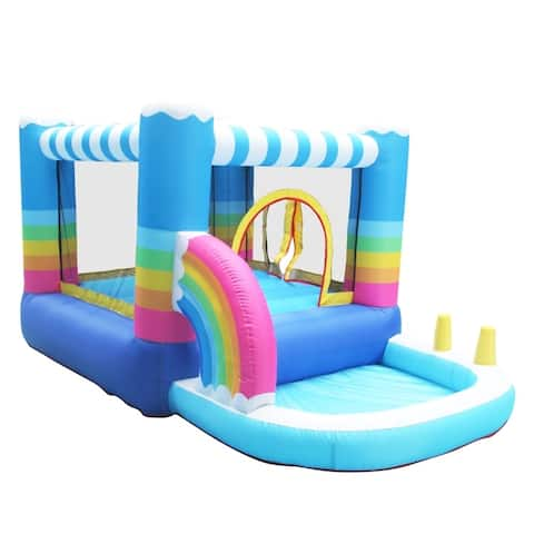 ALEKO Indoor/Outdoor Inflatable Bounce House with Blower and Built-In Ball Pit