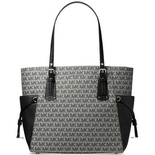 Link to MICHAEL Michael Kors Jacquard Signature East West Tote Graphite/Silver Similar Items in Shop By Style